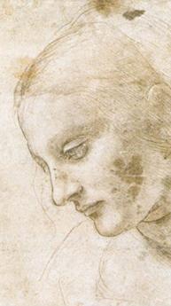 Etude d'une tête de femme, Léonard de Vinci