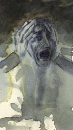 L'Abîme du désespoir, Lavis et aquarelle, 1975