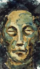 Mort, Aquarelle, 1972