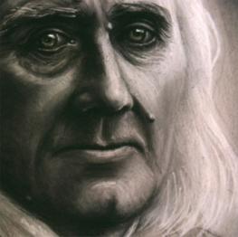 Franz Liszt, Craie et fusain gras, 1985.